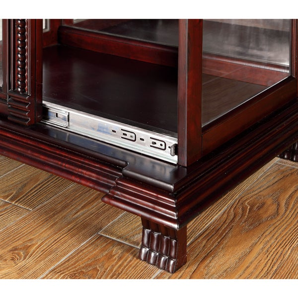 Furniture Of America Blaire Traditional Dark Cherry Curio Cabinet   Free  Shipping Today   Overstock.com   17406733