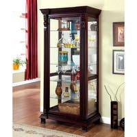 Furniture of America Blaire Traditional Espresso Curio Cabinet