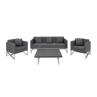 Suave Metal Fabric Sofa with Table (Set of 4)