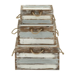 Wooden Rope Trunk Set