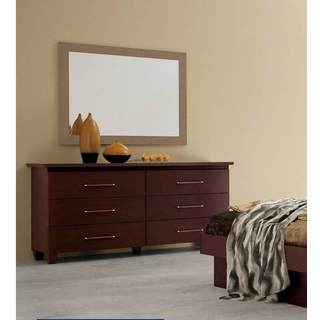 Luca Home Double Dresser with Mirror