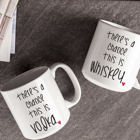 There's a Chance Large Coffee Mugs (Set of 2)