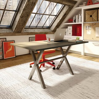 Amisco Alex Ash Metal Rectangular Table