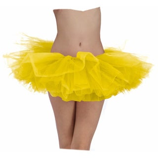 Yellow Adult Tutu Ballerina Ballet Pettiskirt Elastic Costume (Option: Yellow)