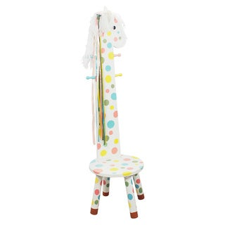 Teamson Kids- Safari Stool w/Coat Rack - Pony