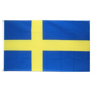 Sweden Flag 3' x 5' Blue Yellow Swedish Polyester 2 Brass Grommets Country