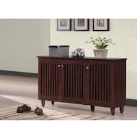 Porch & Den Victoria Park Mola Dark Brown 3-door Shoe Cabinet