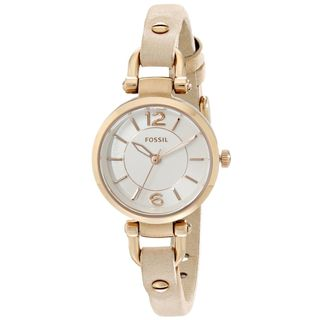 Fossil Women's ES3745 'Georgia' Beige Leather Watch