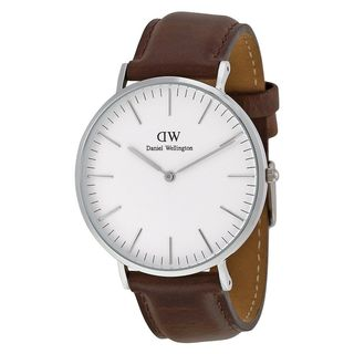 Daniel Wellington Men's 0209DW 'Bristol' Brown Leather Watch