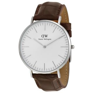 Daniel Wellington Men's 0211DW 'York' Brown Leather Watch