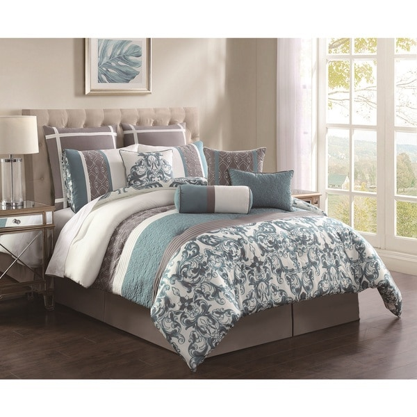 Adeline embroidered 10 piece comforter set free shipping for Overstock free returns