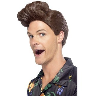 Adult Brown Costume Wig with Raised Front