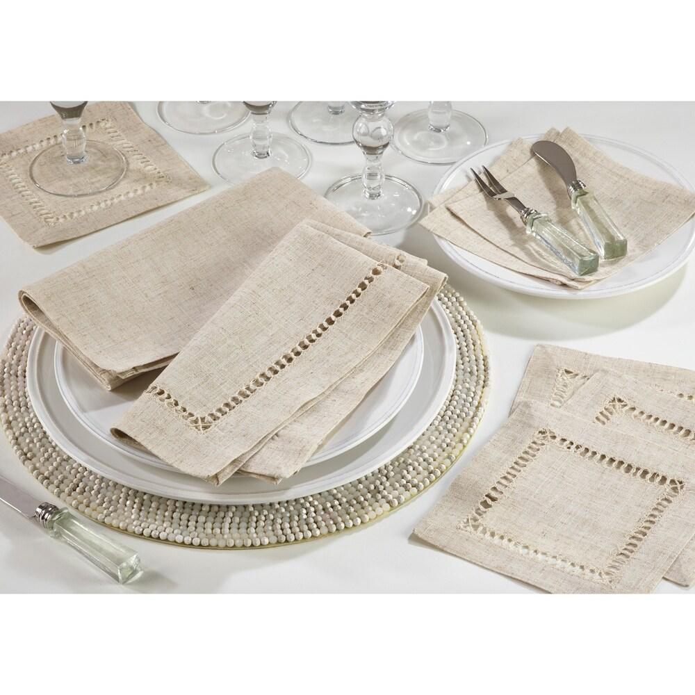 Shop Hemstitched Dinner Napkins (Set of 12) - 10292615
