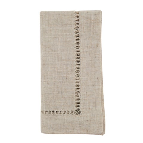 Hemstitched Dinner Napkins (Set of 12)
