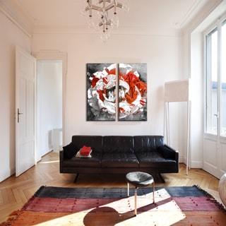 Ready2HangArt 'Born2BWild III-B' Floral Canvas Wall Art