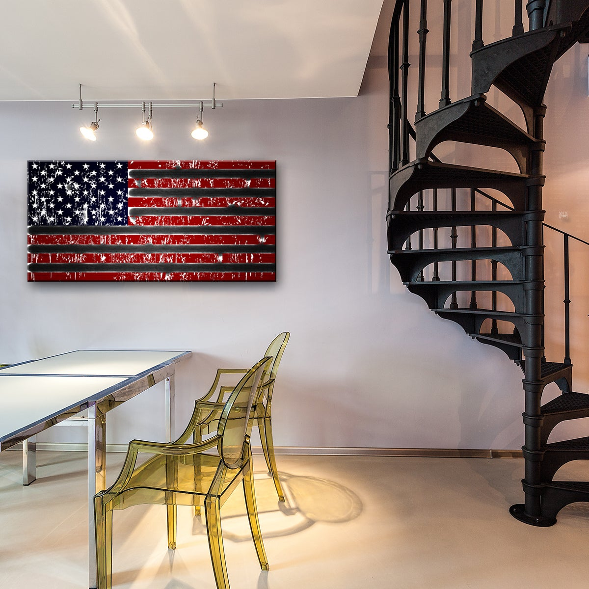 Details About Wall Art Canvas American Flag Patriotic Home Decor Large Office Hotel Gift New