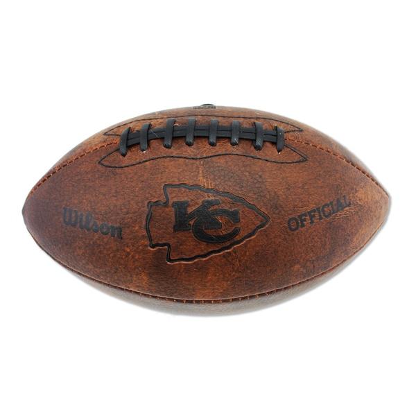 Wilson Kansas City Chiefs 11-inch Brown Leather Football