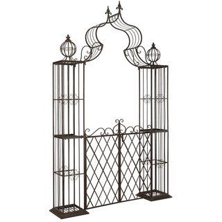 Safavieh Outdoor Living Beatrix Rustic Brown Arbor