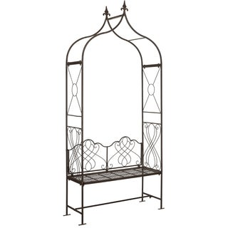 Safavieh Outdoor Living Eloise Rustic Brown Arbor Bench
