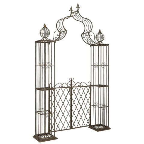 Safavieh Outdoor Living Beatrix Rustic Blue Arbor