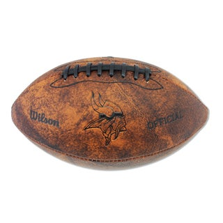 Wilson Minnesota Vikings 11-inch Brown Leather Football