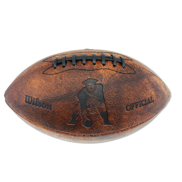 Wilson New England Patriots 11-inch Brown Leather Football