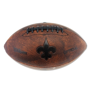 Wilson New Orleans Saints 11-inch Brown Leather Football