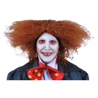 Mad Hatter Tea Party Wig Alice in Wonderland Movie Orange Red Costume Mens