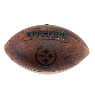 Wilson Pittsburgh Steelers 11-inch Brown Leather Football