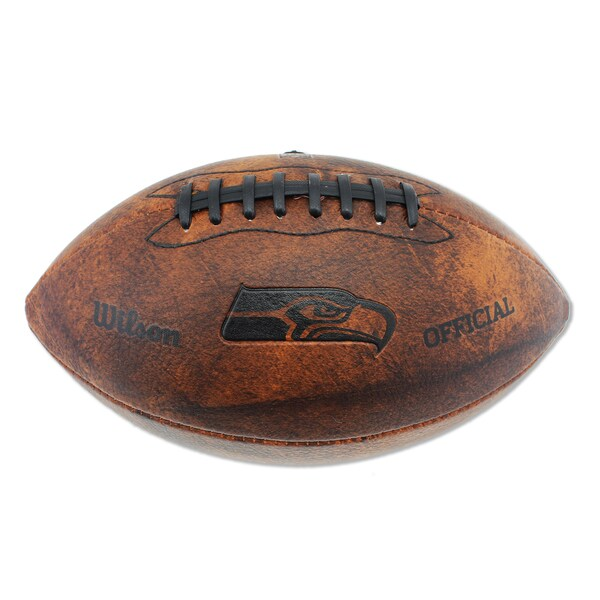Wilson Seattle Seahawks 11-inch Brown Leather Football