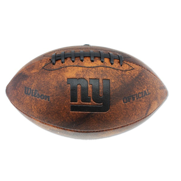 Wilson New York Giants 11-inch Brown Leather Football