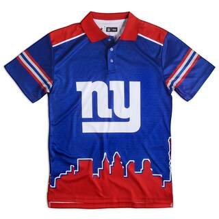 New York Giants NFL Polyester Thematic Polo Shirt