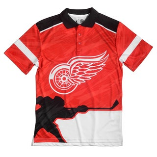 Detroit Red Wings NHL Polyester Thematic Polo Shirt