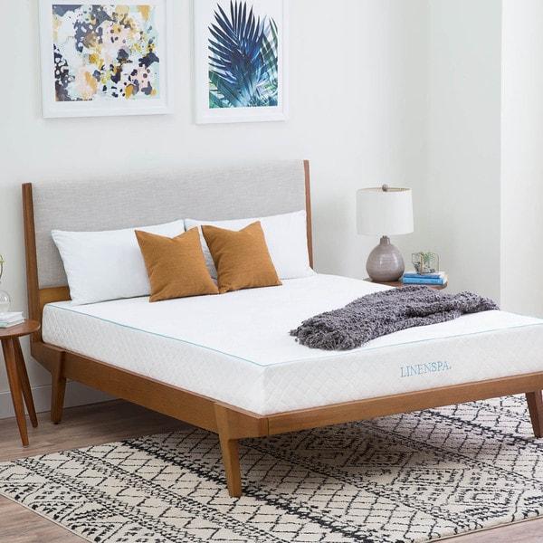Patio Furniture Labor Day Sale: Shop LINENSPA Dual Layer 10-inch Full-size Gel Memory Foam