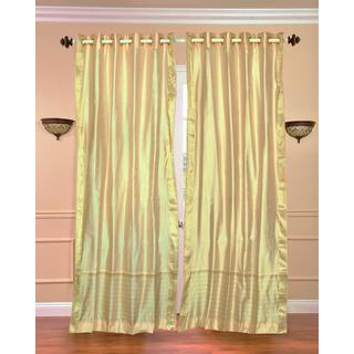 43 x 84 Gold Ring-top Sheer Sari Curtain Panel (India)