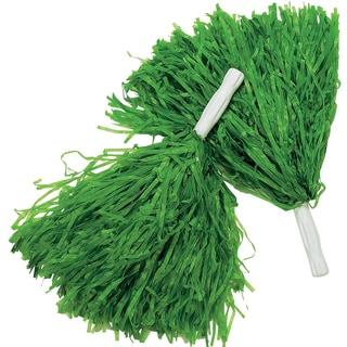 Green Pom-Poms Cheerleader Costume Accessory