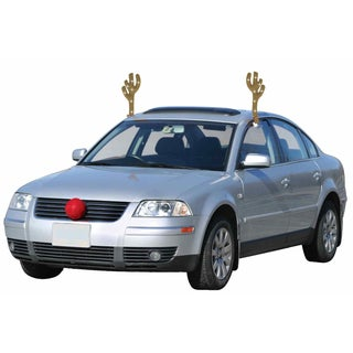 Christmas Light Up Reindeer Kit Rudolph Red Nose Antlers Xmas Car Costume