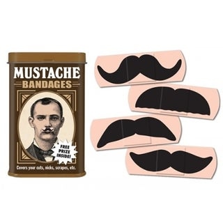 Mustache Band-aids