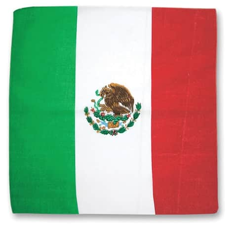 Mexican Flag Cotton Bandana