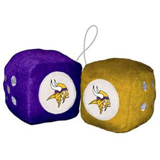 NFL Minnesota Vikings Logo Fuzzy Dice