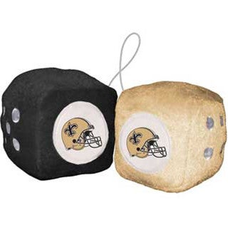 NFL New Orleans Saints Logo Fuzzy Dice