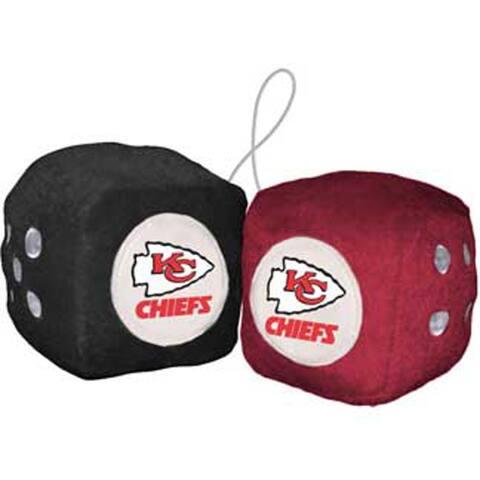 NFL Kansas City Chiefs Logo Fuzzy Dice