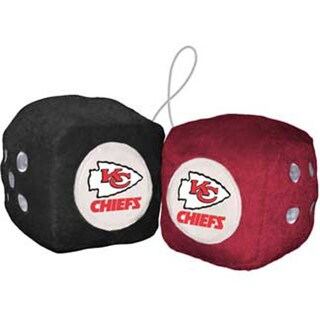 NFL Kansas City Chiefs Logo Fuzzy Dice