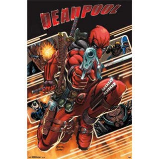 Marvel Deadpool Attack Poster