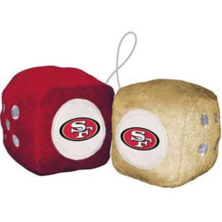 NFL San Francisco 49ers Logo Fuzzy Dice