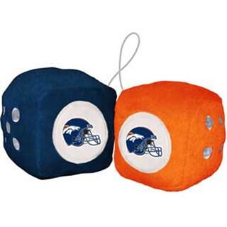 NFL Denver Broncos Logo Fuzzy Dice