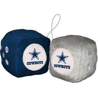 NFL Dallas Cowboys Logo Fuzzy Dice