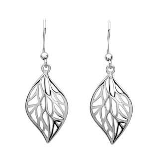 La Preciosa Sterling Silver Leaf Dangle Earrings