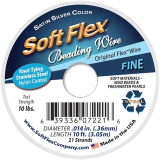 Soft Flex Wire 21 Strand .014inX10' Silver|https://ak1.ostkcdn.com/images/products/10292982/P17407237.jpg?impolicy=medium