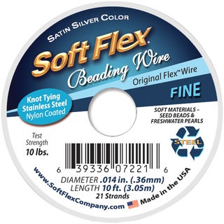 Soft Flex Wire 21 Strand .014inX10' Silver